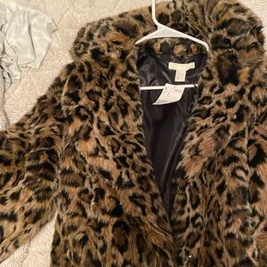 Brand new with tags H&M Faux Fur Cheetah Coat